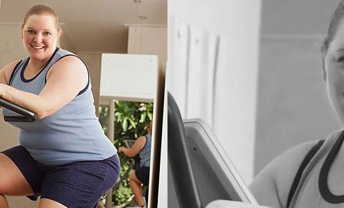 Hacer ejercicio o pesar menos