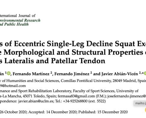 Effects of Eccentric Single-Leg Decline Squat Exercise on the Morphological and Structural Properties of the Vastus Lateralis and Patellar Tendon